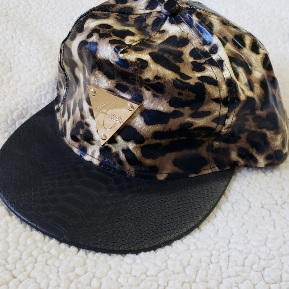 Hater Accessories - Hater snap back cheetah print hat.
